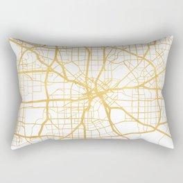 DALLAS TEXAS CITY STREET MAP ART Rectangular Pillow