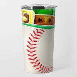 Baseball St Patricks Day Boys Men Ball Leprechaun Catcher Travel Mug