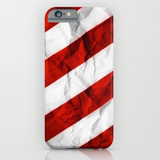 Crumbled Red Stripes iPhone & iPod Case