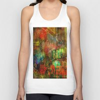 broadway Tank Tops featuring Slice of Broadway by Ganech joe