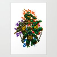 teenage mutant ninja turtles Art Prints featuring Teenage Mutant Ninja Turtles by Magik Tees