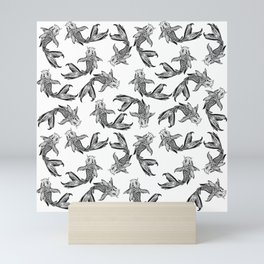 Koi Fish Pattern Mini Art Print