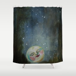Always Kiss the Moon Goodnight  Shower Curtain