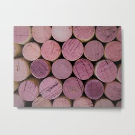 Red Wine Corks 1 Metal Print