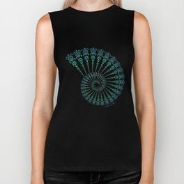 Spiral Tribal Turtle Shell Biker Tank