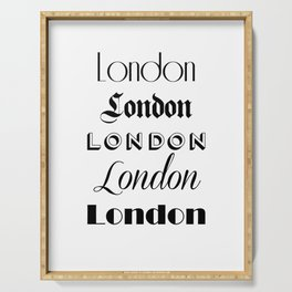 London City Quote Sign, Digital Download, Calligraphy Text Art, Large Printable Photography Serving Tray