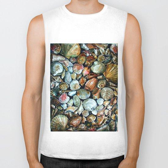 Sea shells  Biker Tank