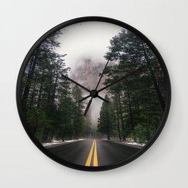 Mountain Road II Wall Clock
