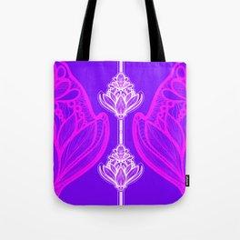 Chakra awakening    Purple Lotus Flower Tote Bag