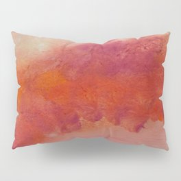 WaterColor Orange Red Print Pillow Sham