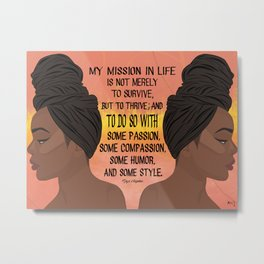 Serving, Ms. Angelou Metal Print