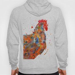 Watercolor Rooster Hoody