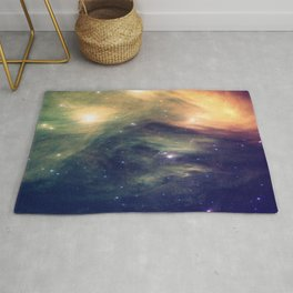 Galaxy: Pleiades Star Cluster neBULa Deep Pastels Rug