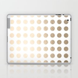 Simply Polka Dots in White Gold Sands Laptop & iPad Skin
