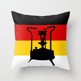 Pressure Stove with German Flag Throw Pillow