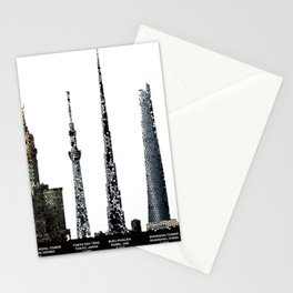 Sky Scrapers of the World Stationery Cards