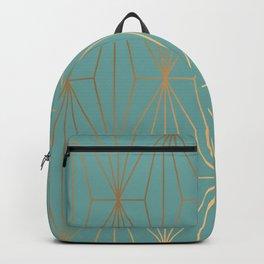 ELEGANT BLUE GOLD PATTERN Backpack