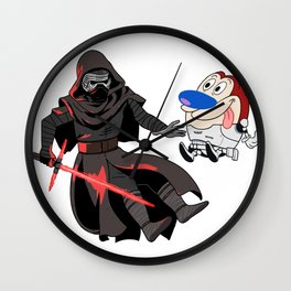 Kylo Ren and Stimpy Wall Clock