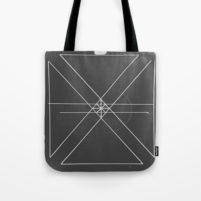 Gray Lines and Crossings Tote Bag