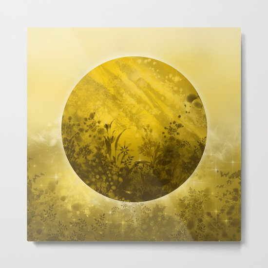 circle yellow landscape Metal Print