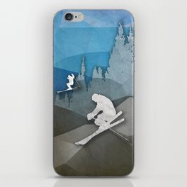 The Skiers iPhone Skin