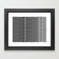 TWO BUILDINGS Framed Art Print
