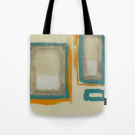 Soft And Bold Rothko Inspired - Corbin Henry Modern Art - Teal Blue Orange Beige Tote Bag