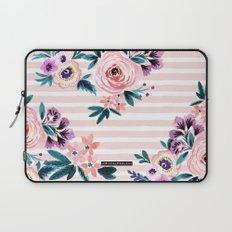Victoria Blushing Stripe Laptop Sleeve