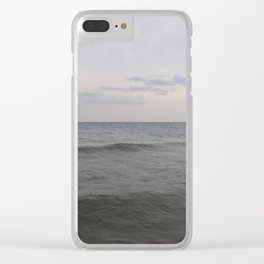 Distant Lighthouse on Lake Michigan Clear iPhone Case