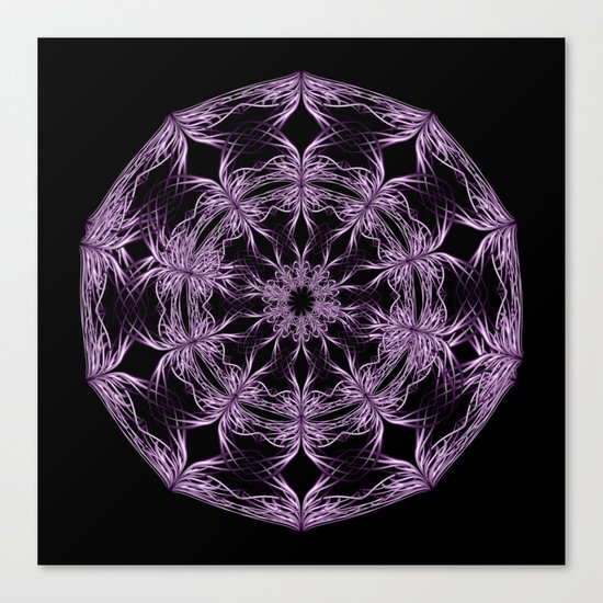 Mandala purple and black Canvas Print