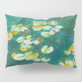 Serene Lotus Pond Pillow Sham
