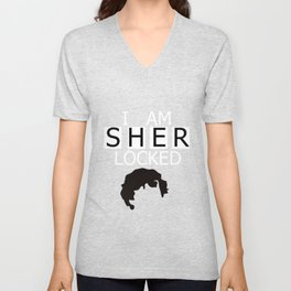 I am Sherlocked Unisex V-Neck