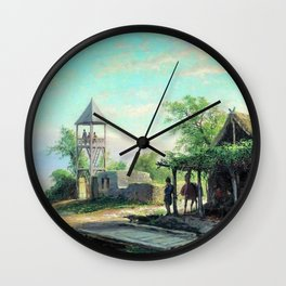 In The Caucasus 1874 By Lev Lagorio | Reproduction | Russian Romanticism Painter Wall Clock