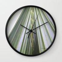 palm Wall Clocks featuring Palm by Autumn Steam