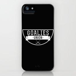 Goalies Union iPhone Case