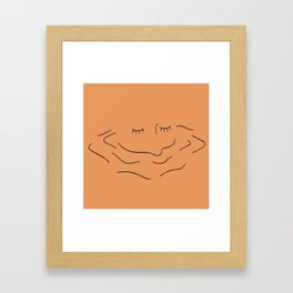 drowning in sorrows Framed Art Print