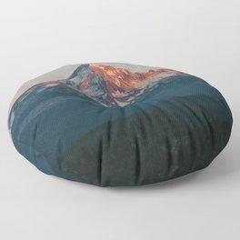 Mount Hood Sunset Floor Pillow
