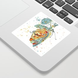 Butterfly with Chrysalis Sticker
