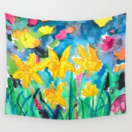 Magical Daffodils Wall Tapestry