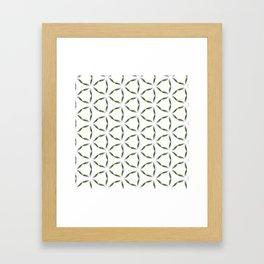 Olive Leave Pattern Framed Art Print