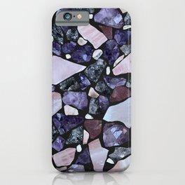 Gemstone Mosaic - black grout iPhone Case
