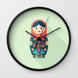 Russian Nesting Doll Wall Clock