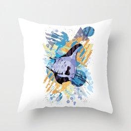 Swift Manta Throw Pillow