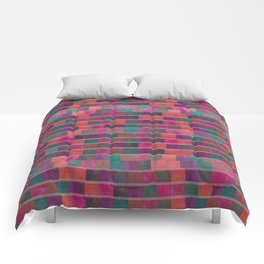 """""""Full Color Squares Pattern"""" Comforters"""