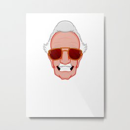 Stan Lee - Man of many faces Metal Print