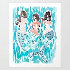 WILD MERMAIDS Art Print