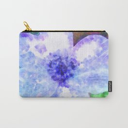 Blue Anemone Watercolor Carry-All Pouch