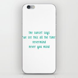 In Your Atmosphere iPhone Skin