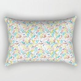 twigs&flowers_white_ramas y flores Rectangular Pillow