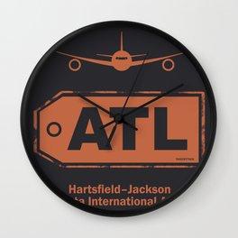 Hartsfield–Jackson Atlanta International Airport tag coffee Wall Clock